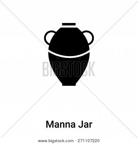 Manna Jar Icon In Trendy Design Style. Manna Jar Icon Isolated On White Background. Manna Jar Vector
