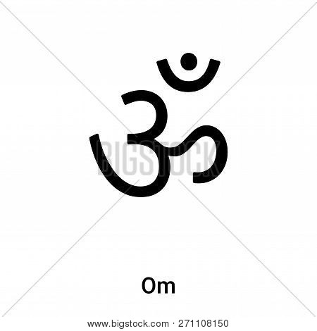 Om Icon In Trendy Design Style. Om Icon Isolated On White Background. Om Vector Icon Simple And Mode