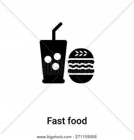 Fast Food Icon In Trendy Design Style. Fast Food Icon Isolated On White Background. Fast Food Vector