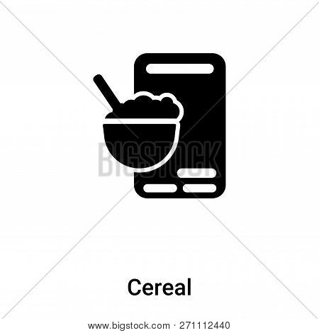 Cereal Icon In Trendy Design Style. Cereal Icon Isolated On White Background. Cereal Vector Icon Sim