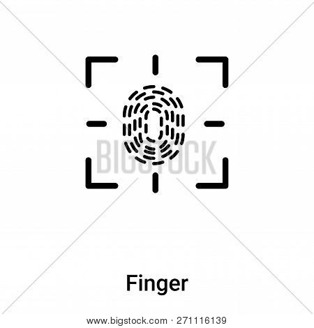 Finger Icon In Trendy Design Style. Finger Icon Isolated On White Background. Finger Vector Icon Sim