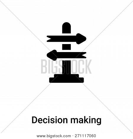 Decision Making Icon In Trendy Design Style. Decision Making Icon Isolated On White Background. Deci