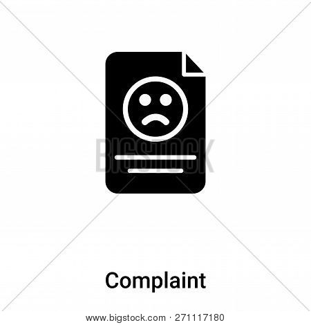 Complaint Icon In Trendy Design Style. Complaint Icon Isolated On White Background. Complaint Vector