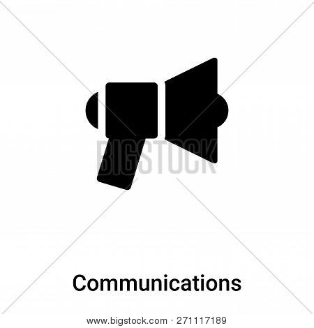 Communications Icon In Trendy Design Style. Communications Icon Isolated On White Background. Commun