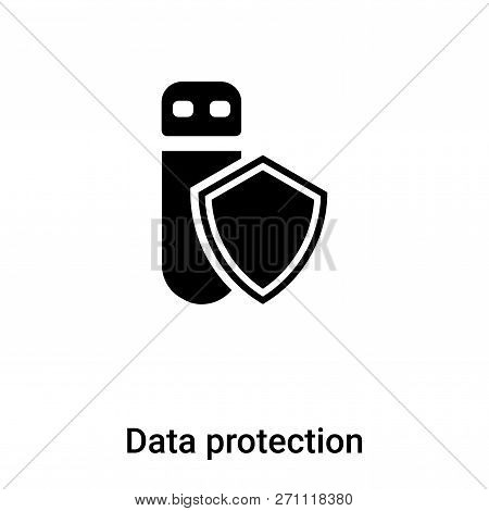 Data Protection Icon In Trendy Design Style. Data Protection Icon Isolated On White Background. Data