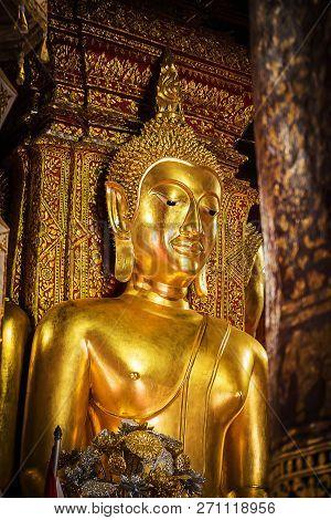 Buddha Statue At Wat Phumin Temple.nan Province  Thailand