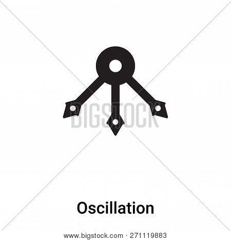 Oscillation Icon In Trendy Design Style. Oscillation Icon Isolated On White Background. Oscillation