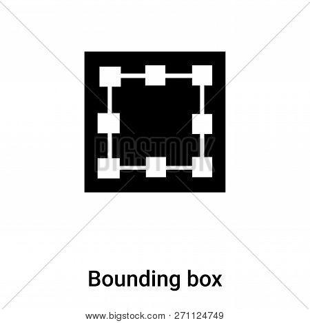Bounding Box Icon In Trendy Design Style. Bounding Box Icon Isolated On White Background. Bounding B
