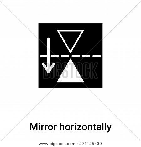 Mirror Horizontally Icon In Trendy Design Style. Mirror Horizontally Icon Isolated On White Backgrou