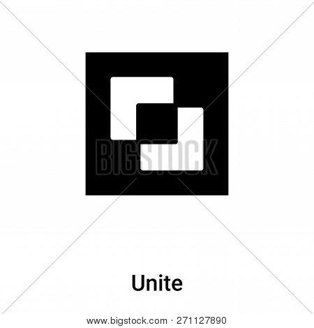 Unite Icon In Trendy Design Style. Unite Icon Isolated On White Background. Unite Vector Icon Simple