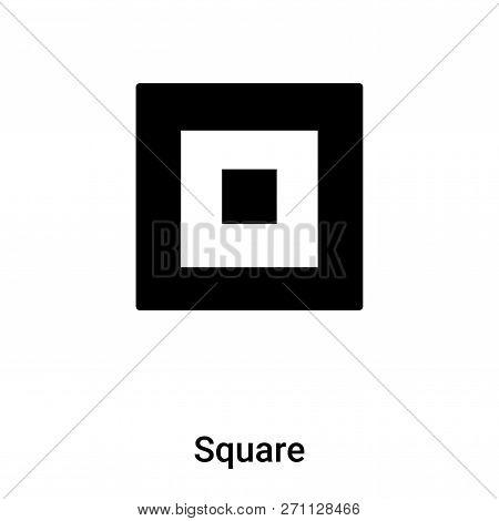Square Icon In Trendy Design Style. Square Icon Isolated On White Background. Square Vector Icon Sim