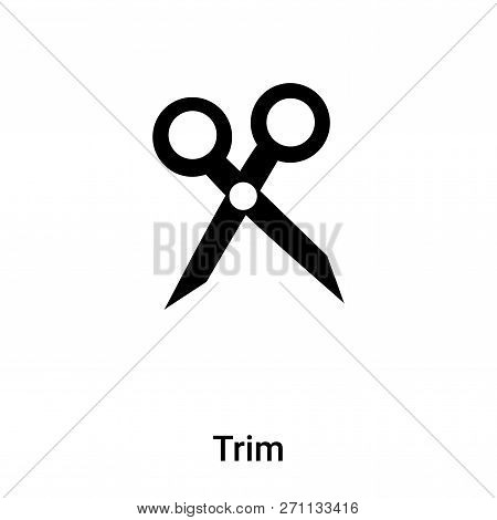 Trim Icon In Trendy Design Style. Trim Icon Isolated On White Background. Trim Vector Icon Simple An
