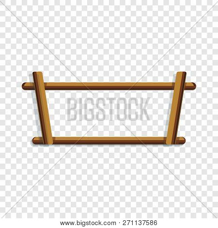Wood Rack Icon. Cartoon Of Wood Rack Vector Icon For Web Design