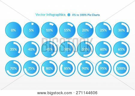 Percentage Vector Infographic Icons. 0 5 10 15 20 25 30 35 40 45 50 55 60 65 70 75 80 85 90 95 100 P