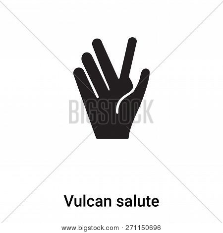 Vulcan Salute Icon In Trendy Design Style. Vulcan Salute Icon Isolated On White Background. Vulcan S