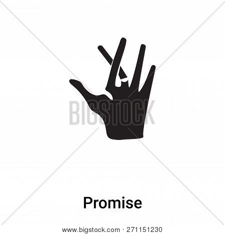 Promise Icon In Trendy Design Style. Promise Icon Isolated On White Background. Promise Vector Icon