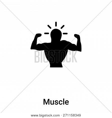 Muscle Icon In Trendy Design Style. Muscle Icon Isolated On White Background. Muscle Vector Icon Sim