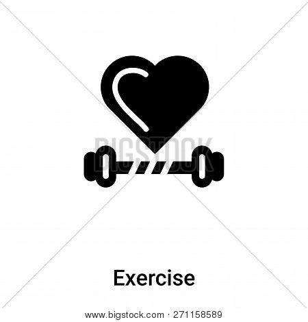 Exercise Icon In Trendy Design Style. Exercise Icon Isolated On White Background. Exercise Vector Ic