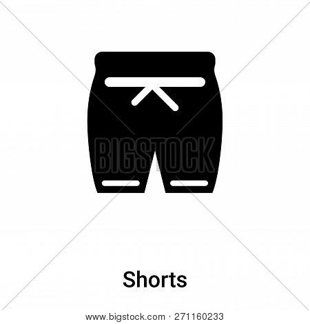 Shorts Icon In Trendy Design Style. Shorts Icon Isolated On White Background. Shorts Vector Icon Sim