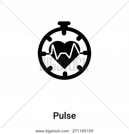 Pulse Icon In Trendy Design Style. Pulse Icon Isolated On White Background. Pulse Vector Icon Simple