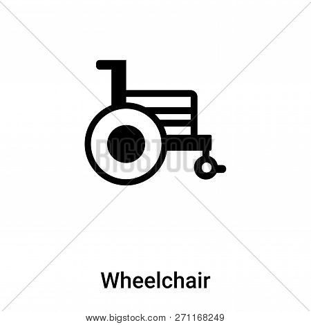 Wheelchair Icon In Trendy Design Style. Wheelchair Icon Isolated On White Background. Wheelchair Vec