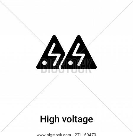 High Voltage Icon In Trendy Design Style. High Voltage Icon Isolated On White Background. High Volta