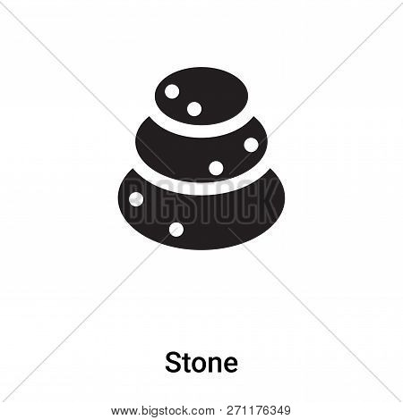 Stone Icon In Trendy Design Style. Stone Icon Isolated On White Background. Stone Vector Icon Simple