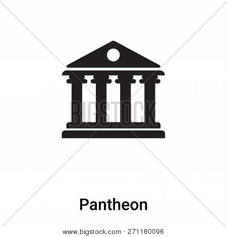 Pantheon Icon In Trendy Design Style. Pantheon Icon Isolated On White Background. Pantheon Vector Ic