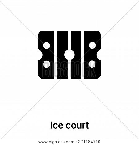Ice Court Icon In Trendy Design Style. Ice Court Icon Isolated On White Background. Ice Court Vector