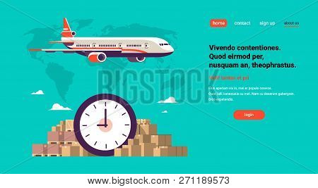 Transport Airplane Express Delivery Punctuality Shipping Parcel Packages International Transportatio