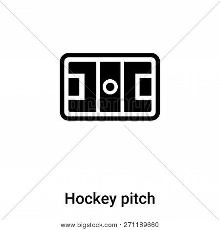 Hockey Pitch Icon In Trendy Design Style. Hockey Pitch Icon Isolated On White Background. Hockey Pit