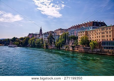 The River Rhine And The Historic Center Of Basel