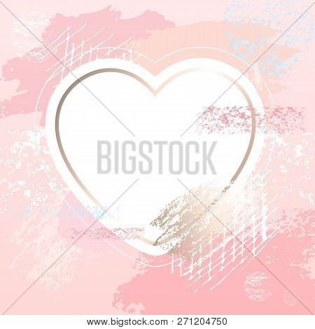 Golden Pink Art Heart Vector Photo Free Trial Bigstock