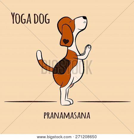 Cartoon Dog Shows Yoga Pose Surya Namaskara