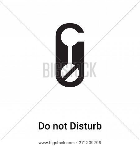 Do Not Disturb Icon In Trendy Design Style. Do Not Disturb Icon Isolated On White Background. Do Not