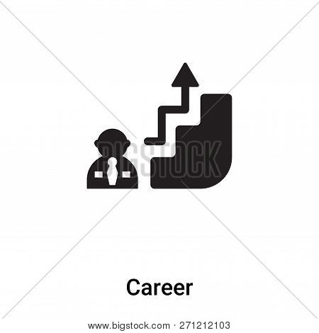 Career Icon In Trendy Design Style. Career Icon Isolated On White Background. Career Vector Icon Sim