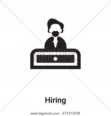 Hiring Icon In Trendy Design Style. Hiring Icon Isolated On White Background. Hiring Vector Icon Sim