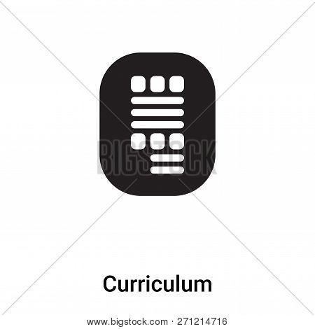 Curriculum Icon In Trendy Design Style. Curriculum Icon Isolated On White Background. Curriculum Vec