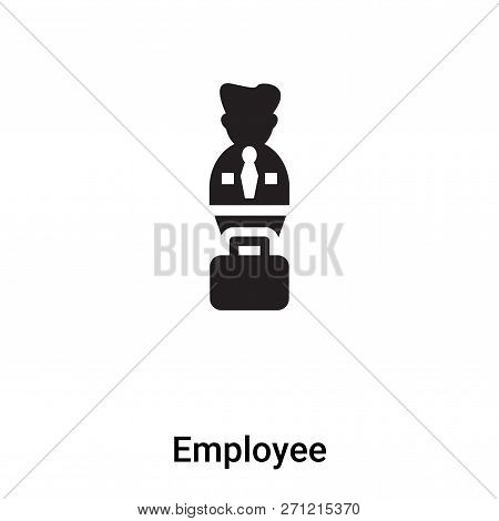 Employee Icon In Trendy Design Style. Employee Icon Isolated On White Background. Employee Vector Ic