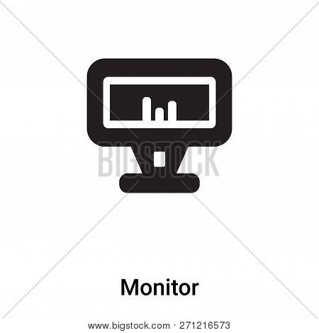 Monitor Icon In Trendy Design Style. Monitor Icon Isolated On White Background. Monitor Vector Icon