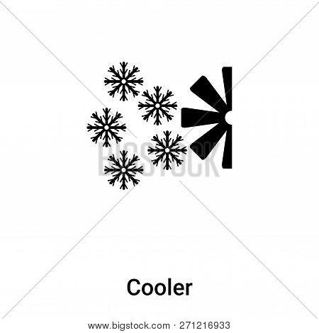 Cooler Icon In Trendy Design Style. Cooler Icon Isolated On White Background. Cooler Vector Icon Sim
