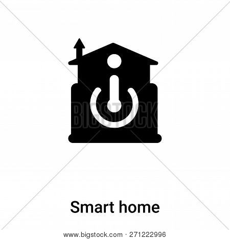 Smart Home Icon In Trendy Design Style. Smart Home Icon Isolated On White Background. Smart Home Vec