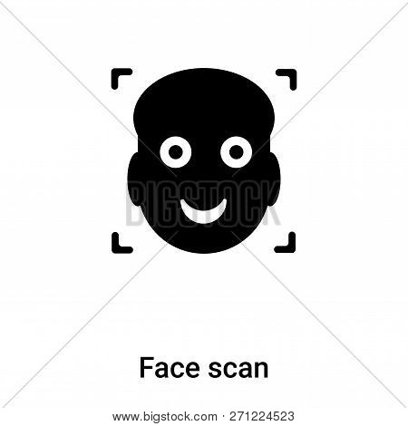 Face Scan Icon In Trendy Design Style. Face Scan Icon Isolated On White Background. Face Scan Vector