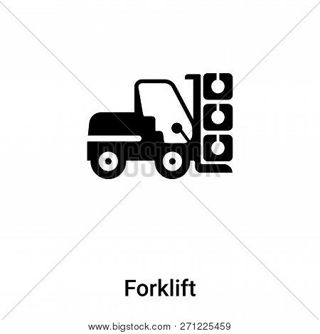 Forklift Icon In Trendy Design Style. Forklift Icon Isolated On White Background. Forklift Vector Ic