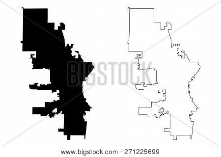 Milwaukee City (united States Cities, United States Of America, Usa City) Map Vector Illustration, S
