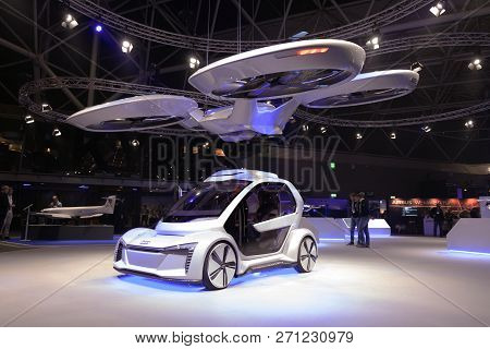 Airbus Drone And Audi Car At An Exhibition