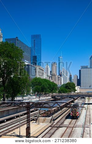 Chicago, Il, Usa: July 11,2013: The Station Van Buren Street.  The Chicago