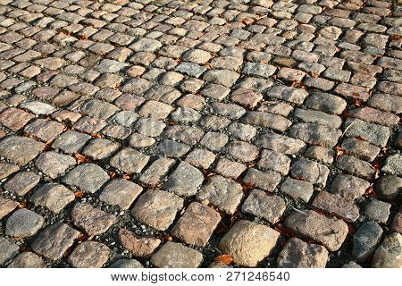 Cobble Stones Pavement In Noth Seeland Denmark