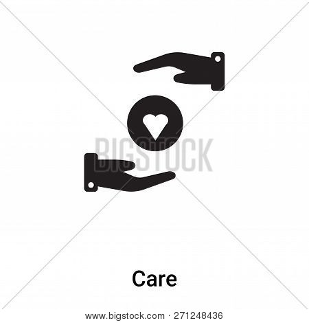 Care Icon In Trendy Design Style. Care Icon Isolated On White Background. Care Vector Icon Simple An