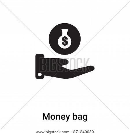 Money Bag Icon In Trendy Design Style. Money Bag Icon Isolated On White Background. Money Bag Vector